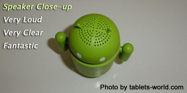 1:1 Google Android robot mini speaker for tablets laptop desktop