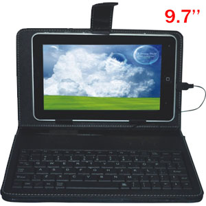 Leather Case Keyboard for 9.7'' tablets