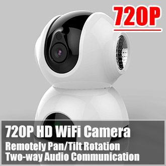 720P HD WiFi Wireless Camera IP Camera Baby Monitor Two Way Audio Remote Control