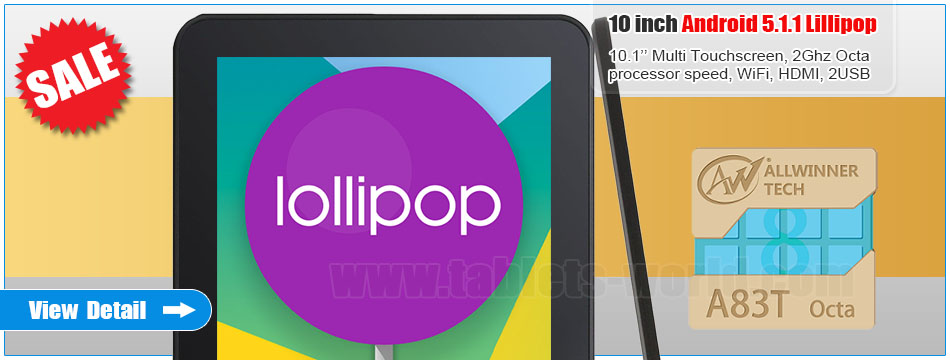 10.1 inch Allwinner A83T Octa-Core Android Tablet Computer WiFi Dual Camera Dual USB