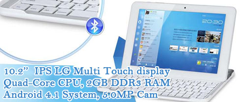 10.1'' multi touchscreen Quad-Core Bluetooth Android Tablet computer