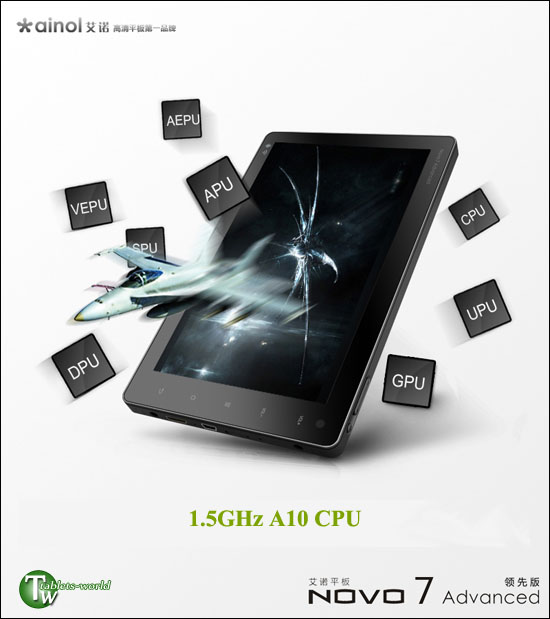 ainol novo7 advance google android 2.3 Gingerbread 2160p tablet pc 1.5ghz many core a10
