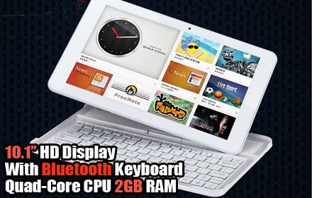 Bmorn K12 10.1 inch Bluetooth Quad-Core Android Tablet Computer