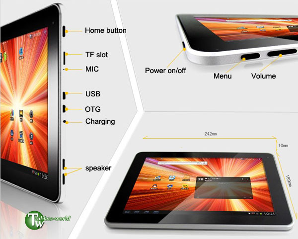 Cube u9gt 2 google android 2.3 4.0 ice cream sandwich os 1.2ghz 9.7'' capacitive tablet pc 16gb version 1gb ddr3