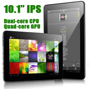10.1'' IPS Android 4.1 JB 1.6GHz Dual-Core tablet Cube U30GT WiFi Bluetooth front rear cameras