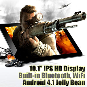 10.1 inch IPS Bluetooth Android Tablet PC KNC MD1003 with Gifts Pack