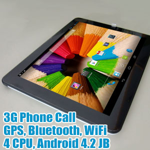 9.7 inch IPS 4-Core 3G Phone Android 4.2 Tablet LYXF F978i 40GB Bundle