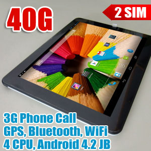 9.7 inch IPS 4-Core 3G Phone Android 4.2 Tablet LYXF F978c 40GB Bundle