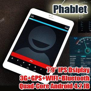 7.9 inch HD Touchscreen GPS Android 4.2 Onda V819 3G Phablet