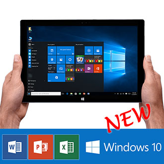 10.1 inch Intel CPU Windows 10 Tablet PC Office 2016 WiFi HDMI 64GB Bundle