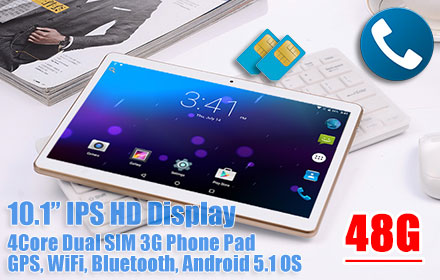 40%OFF BUY 10.1 inch Android 5.1 GPS Tablet Dual SIM 3G ...
