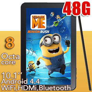 10 inch Tablet PC Android 4.4 KitKat WiFi Bluetooth Octa-Core CPU 48GB Bundle