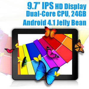 9.7 inch IPS Display Android 4.1 Tablet PC TEK976 WiFi 24GB with Gifts Pack