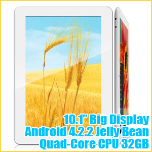 10.1 inch IPS Android 4.2 Tablet PC Quad-Core Ployer MOMO20s with Gifts
