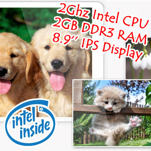 8.9 inch IPS HD Intel CPU 2GB RAM Android 4.2 Tablet Ramos i9