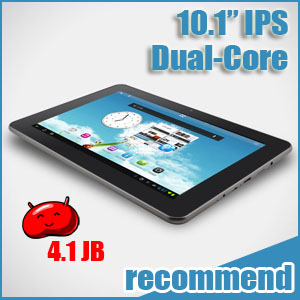 10.1 inch Tablet Android 4.1 IPS Sanei N10 Ampe A10 Dual-Core with GIFTS PACK