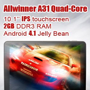 10.1 inch Android Tablet 2GB RAM Sanei N10 Ampe A10 Quad-Core Ultimate edition with GIFTS PACK