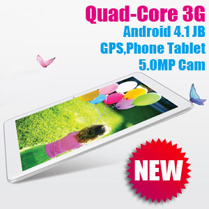 10.1 inch GPS & Phone Android 4.1 Tablet Sanei N10 Ampe A10 Quad-Core 3G edition