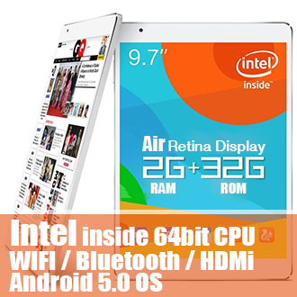 9.7 inch Retina Display Intel x86 CPU Teclast X98 Air III Android 5 Tablet PC