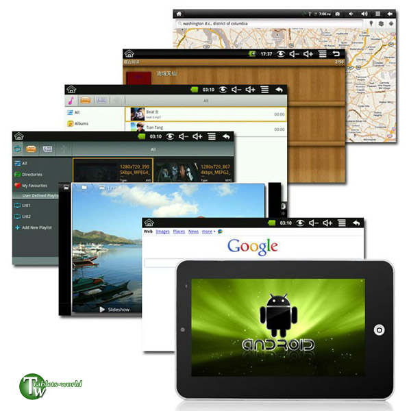 7 inch google android 2.3 VIA 4gb tablet pc Infotmic arm11 x210 1ghz flash