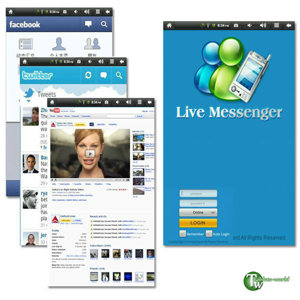7 inch google android 2.3 VIA 4gb tablet pc Infotmic arm11 x210 1ghz flash