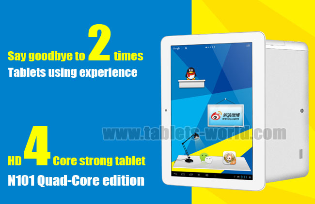 10.1'' Android Tablet computer Yuandao N101 Quad Core edition IPS