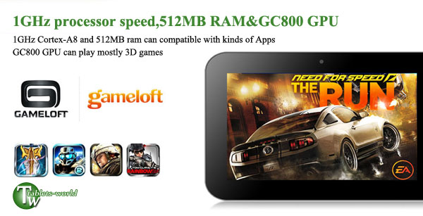 7'' Yuandao N12 Android 4.0.3 Tablet PC WiFi 3G Webcam Flash