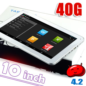 10 inch Capacitive Touchscreen Tablet PC Google Android 4.2 A20 WiFi 40GB