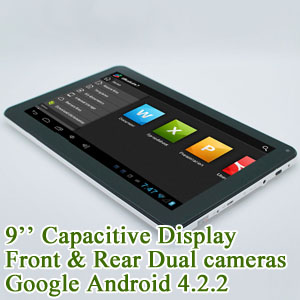 9.0 inch Capacitive Touchscreen Tablet PC Google Android 4.2 A23 40GB