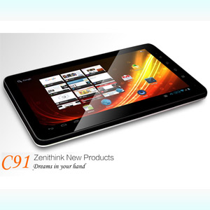 10 inch Capacitive touchscreen Zenithink C91 ZEPAD Android 2.3/4.0 1GHz A9 ZT-280 Tablet 8gb