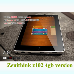 10 inch Resistive android 2.3/4.0 Zenithink Z102 ZEPAD GPS Tablet 1GHz A9 zt-280 Flash11 4gb WIFI 3G